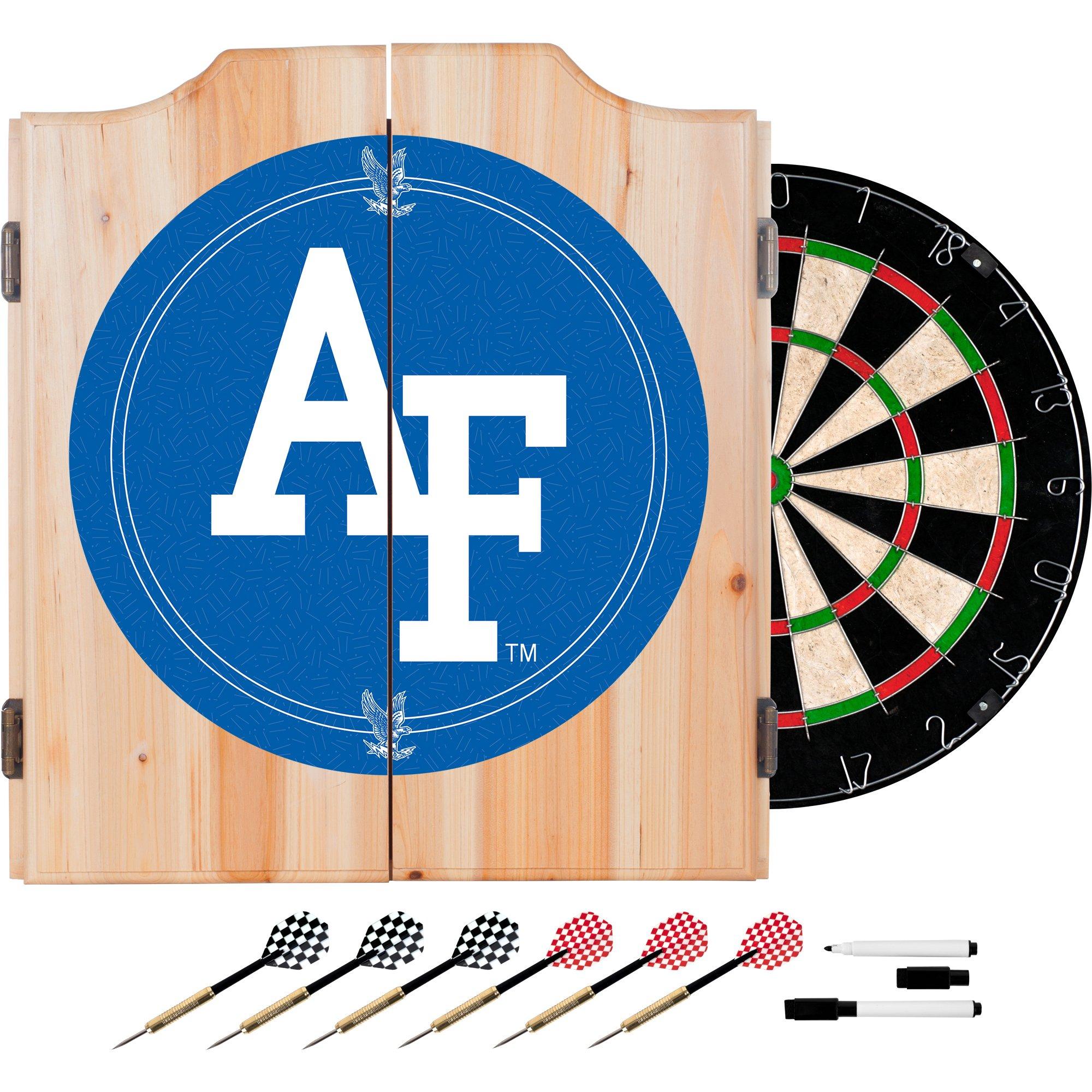 NCAA Air Force Academy Wood Dart Cabinet Set