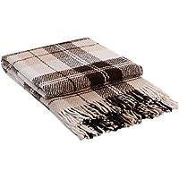 CG HOME Luxury Plaid Throw Blanket - Soft Warm Tartan Wool (Twin/Full)