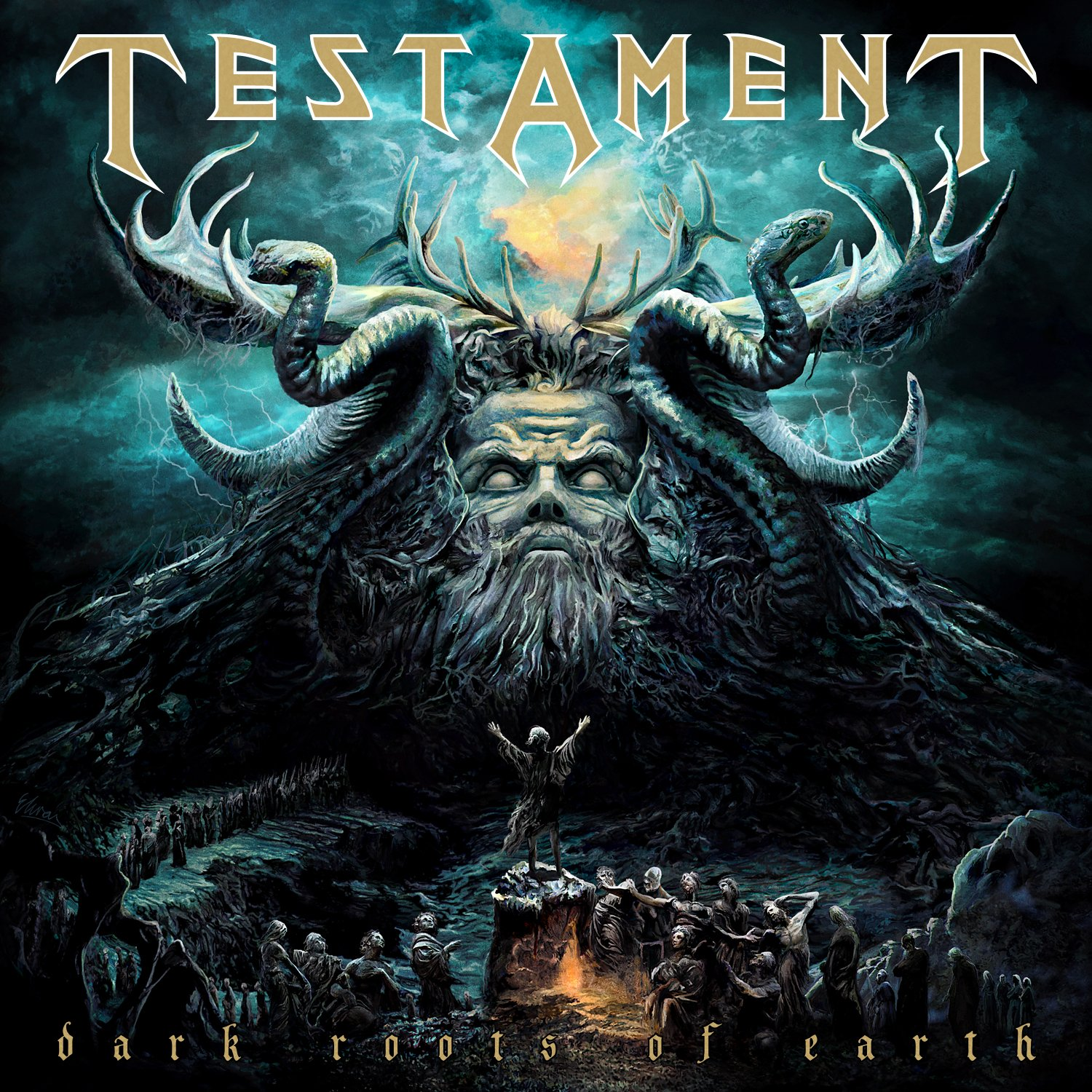 CD : Testament - Dark Roots of Earth (Deluxe Edition, Jewel Case Packaging)
