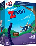 CLIF KID ZFRUIT - Organic Fruit Snack - Grape - (0.7 Ounce Rope, 18 Count)