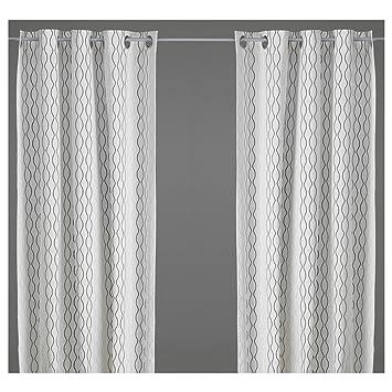 Curtains Wilma White 2 Panels 57 X 98 Nip What S It Worth