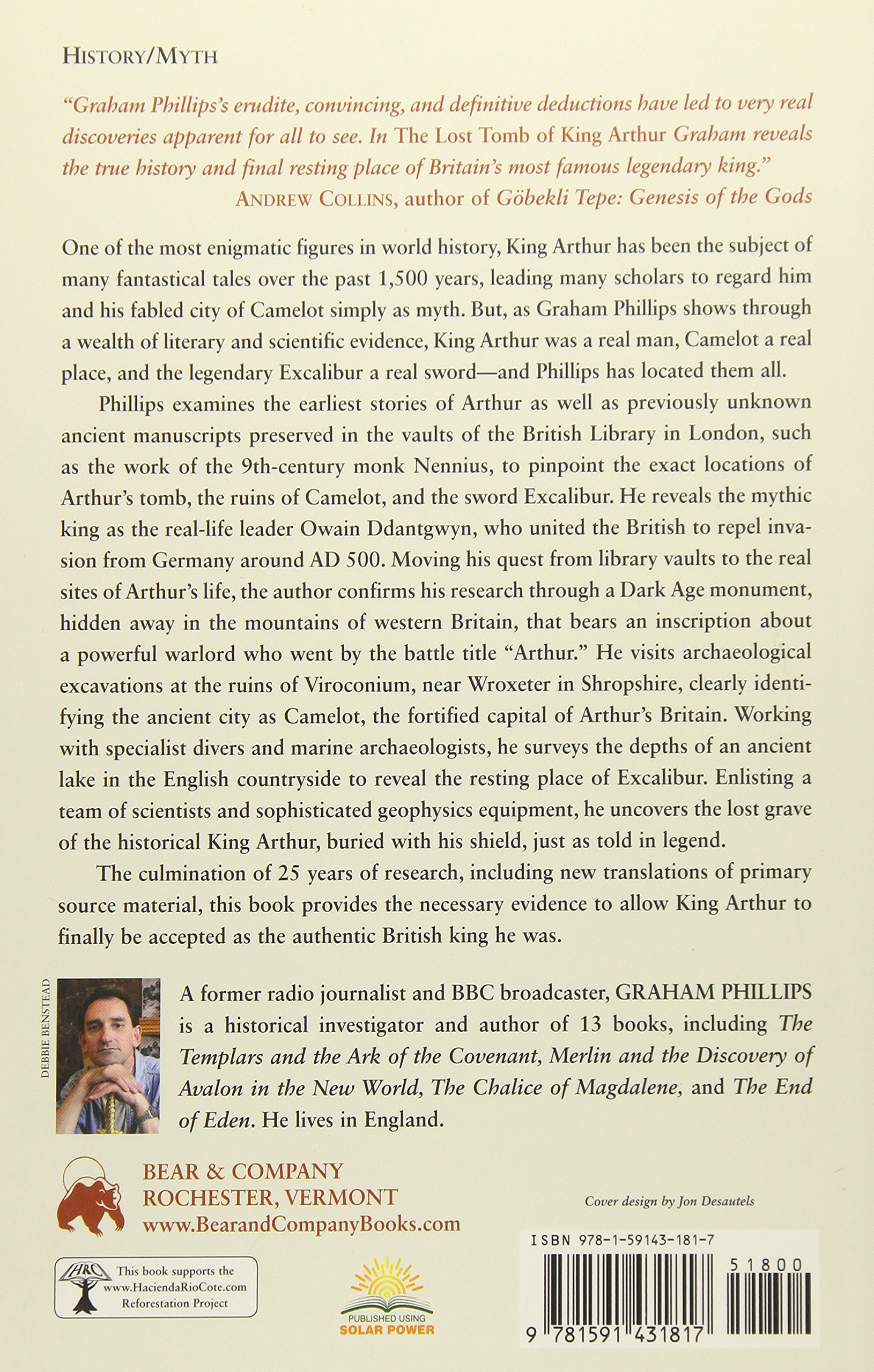 The Lost Tomb of King Arthur: The Search for Camelot and the Isle of  Avalon: Graham Phillips: 9781591431817: Amazon.com: Books