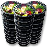 [Premium 30-Pack] Round Meal Prep Containers with leakproof Lids by Prep Naturals, 24oz