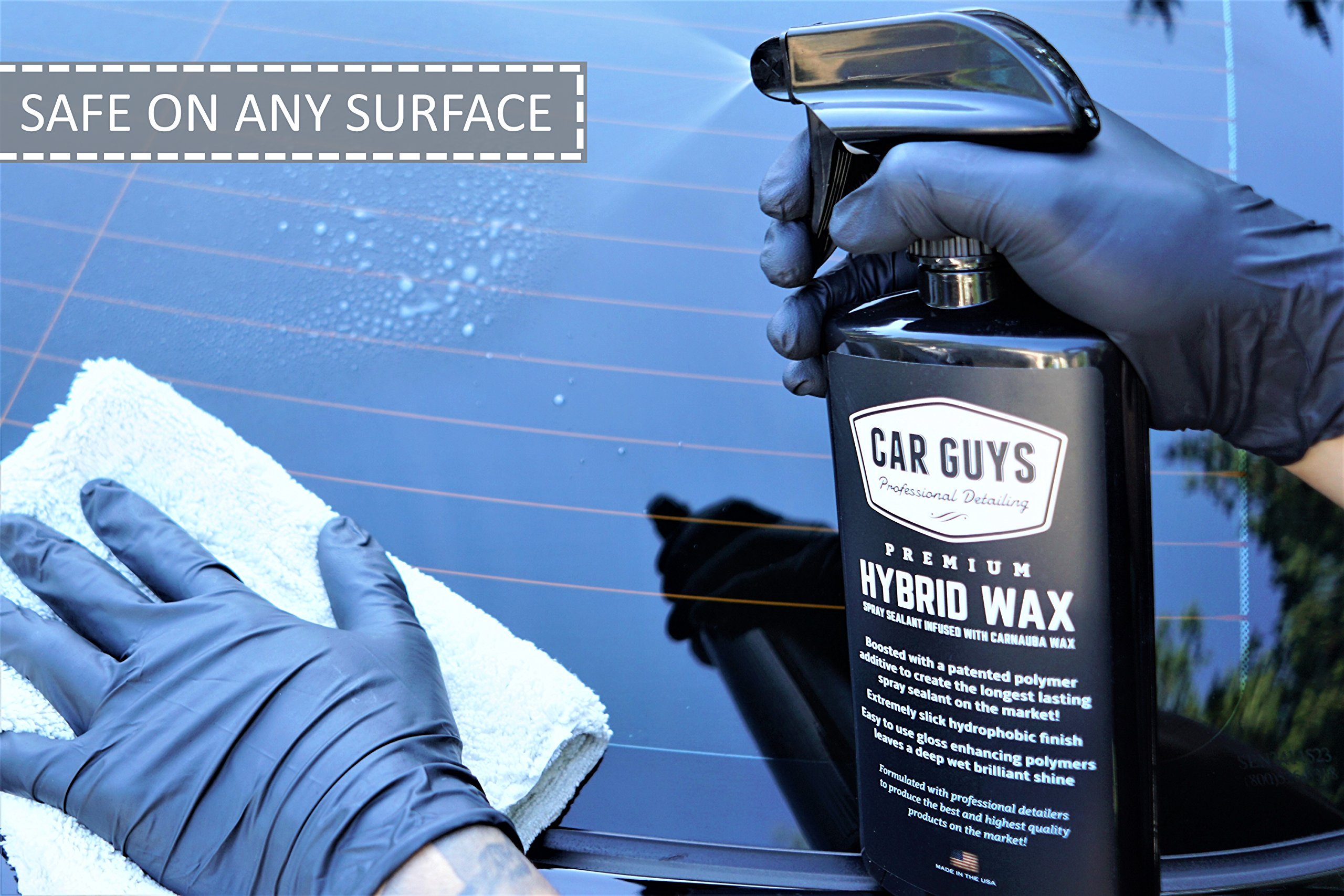 CarGuys Hybrid Wax Sealant - Top Coat Polish and Sealer - Infused with Liquid Carnauba for a Deep Hydrophobic Shine on All Types of Surfaces - 1 Gallon Bulk Refill by CarGuys (Image #4)