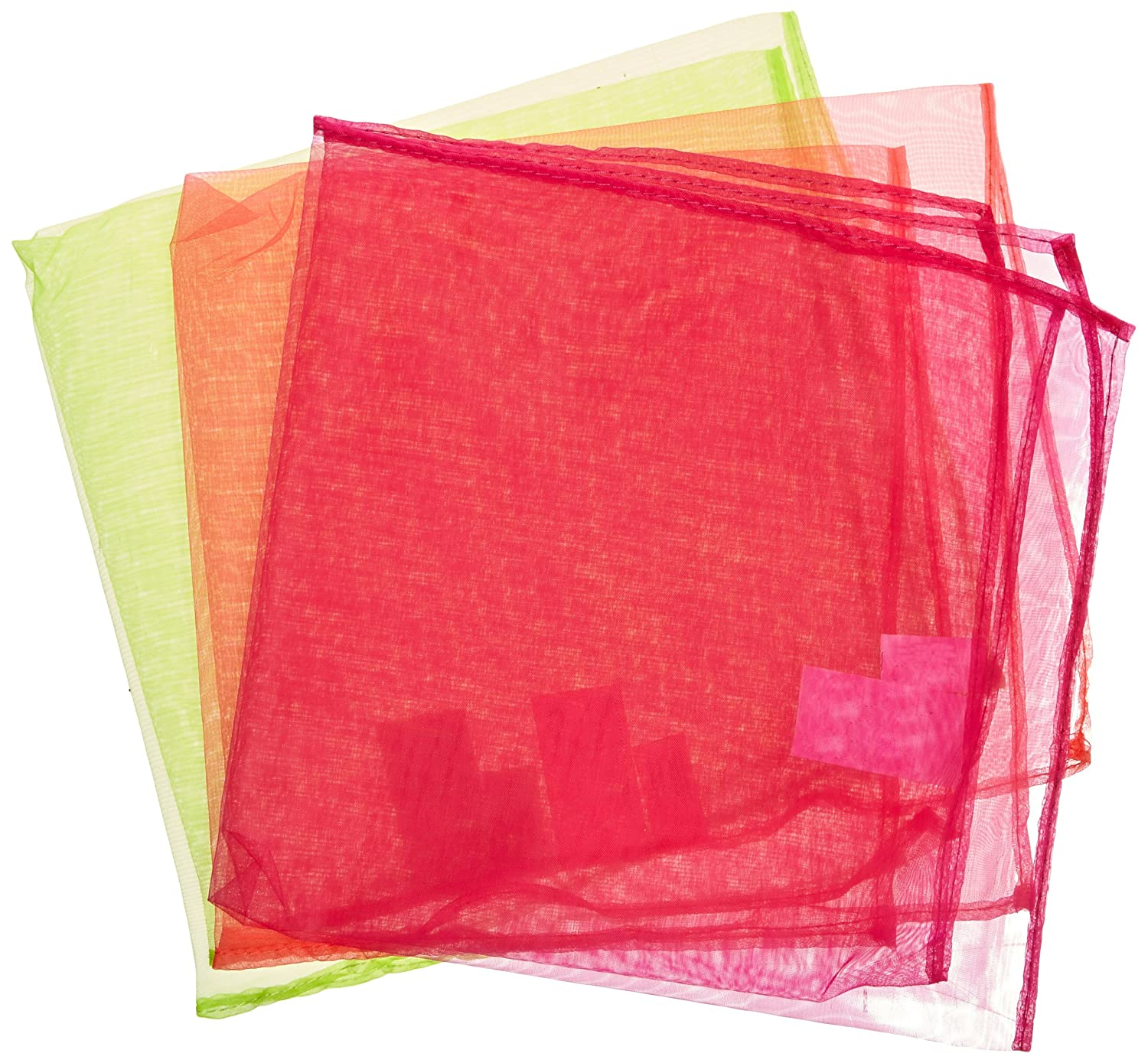 Juggletime Nylon Juggling Scarves with Instructions - Set of 108 - Assorted Neon Colors 152720