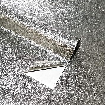 Gray Glitter Self Adhesive Contact Paper Kitchen Furniture Decor Wallpaper Roll