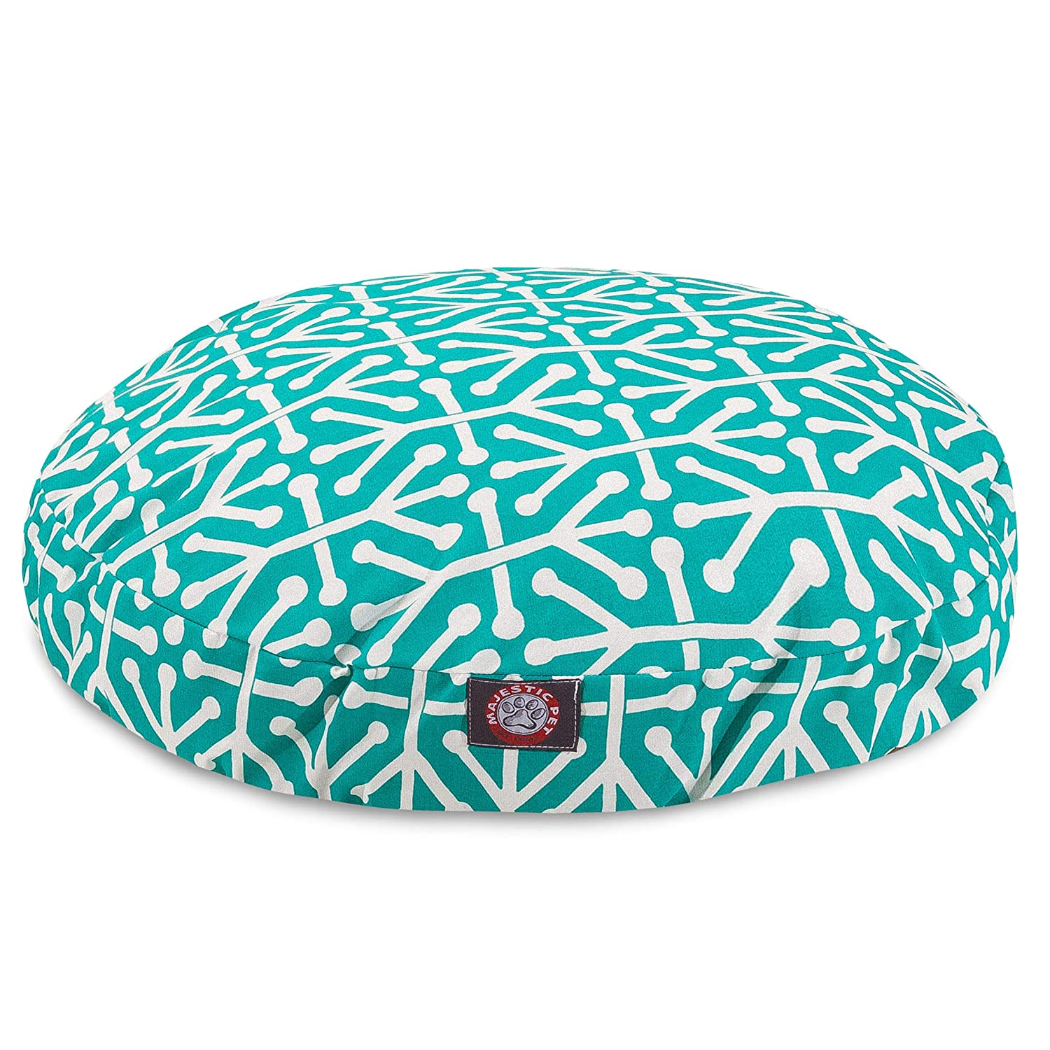 (Small, Pacific) Majestic Pet Aruba Round Pillow Pet Bed