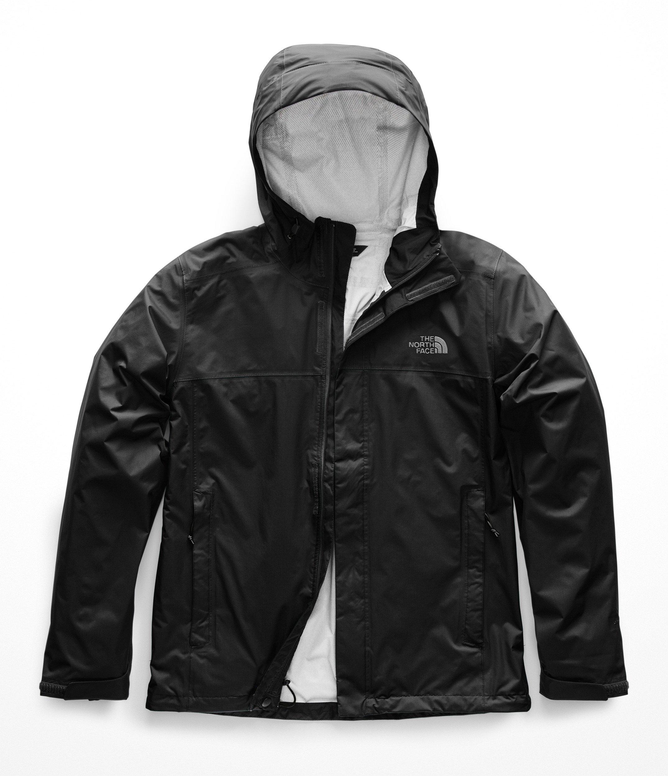The North Face Men's Venture 2 Jacket, TNF Black & TNF Black, Large (Past Season) by The North Face