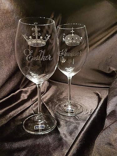 Copas Bohemia Vino Talladas a Mano con Estuche de lujo.(mod. Gastro talla Real): Amazon.es: Handmade