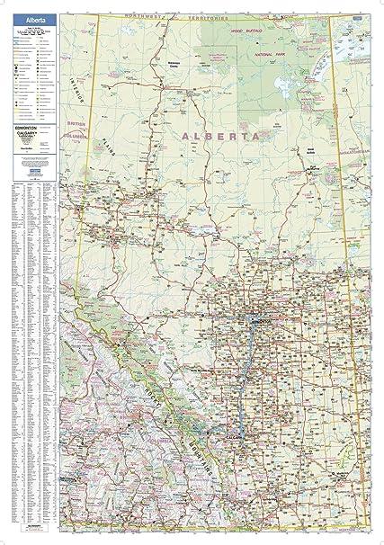 Alberta Wall Map - 28 75