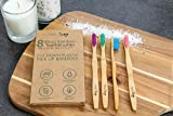 Bamboo Toothbrush for Adults 8-Pack Biodegradable