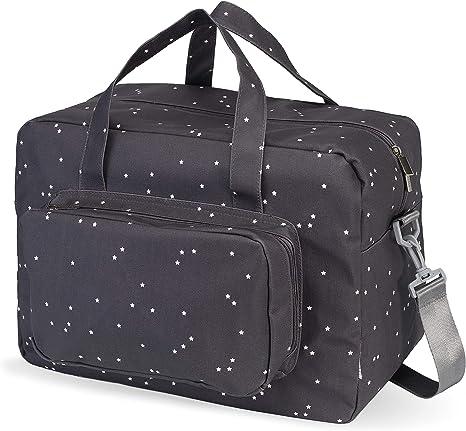 My Bag's Bolso de Maternidad de Tejido de Algodón laminado Acoplable en Carrito, Estampado