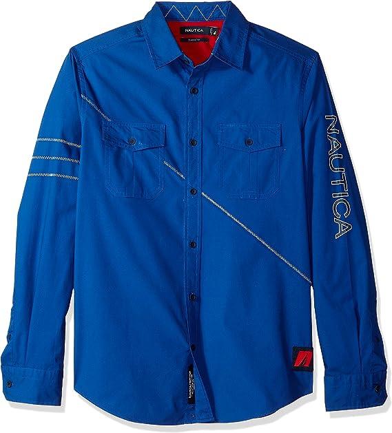 Nautica Camisa W81521 4MM. S Azulon: Amazon.es: Ropa y accesorios