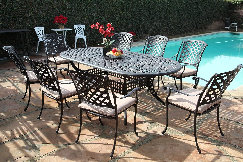 Amazoncom Kawaii Collection Outdoor Cast Aluminum Patio - Find patio furniture