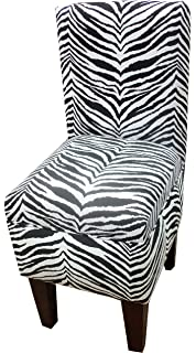 Amazoncom Black and White Striped Dining Vanity Chair Chairs