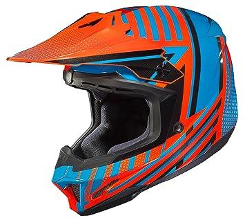 Amazon.com: HJC Helmets Unisex-Adult Off-Road Helmet (Blue/Orange, XXX-Large) (CL-X7 Hero MC-26): Automotive