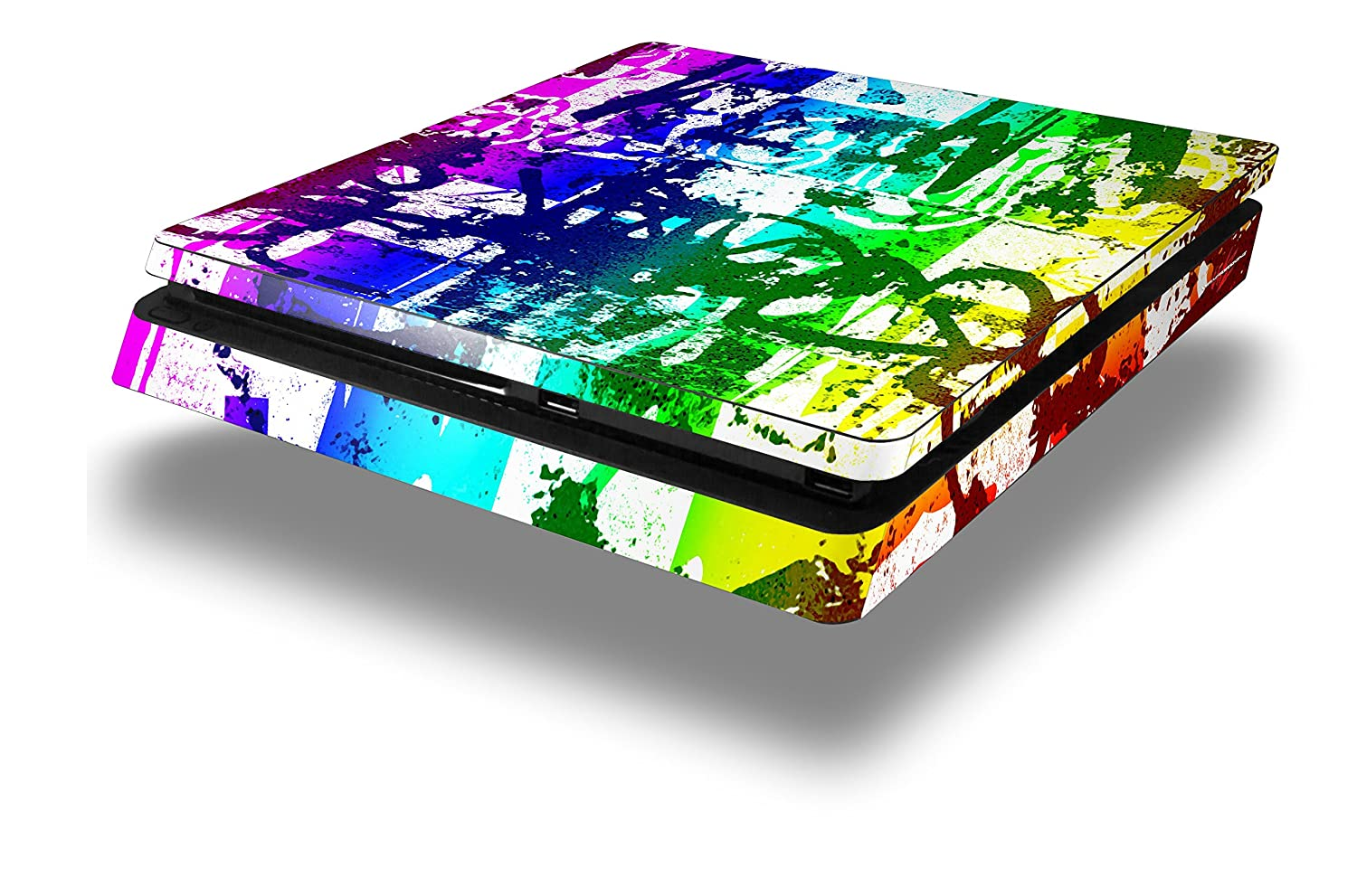 Rainbow Graffiti - Decal Style Skin fits Sony PlayStation 4 Slim Gaming Console