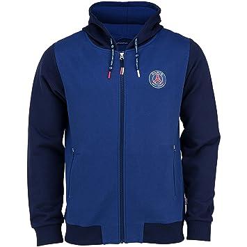 Paris Saint Germain - Sudadera oficial con capucha para hombre, talla de adulto, Hombre, azul, S: Amazon.es: Deportes y aire libre