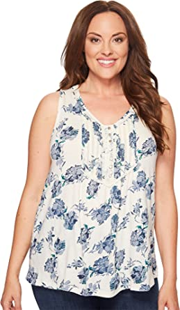 Tank Women's Plus Lucky Top Printed Brand Floral Size TcJF1Kl