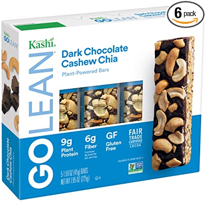 Kashi GoLean Barra Chocolate Oscuro anacardos Chia: Amazon ...