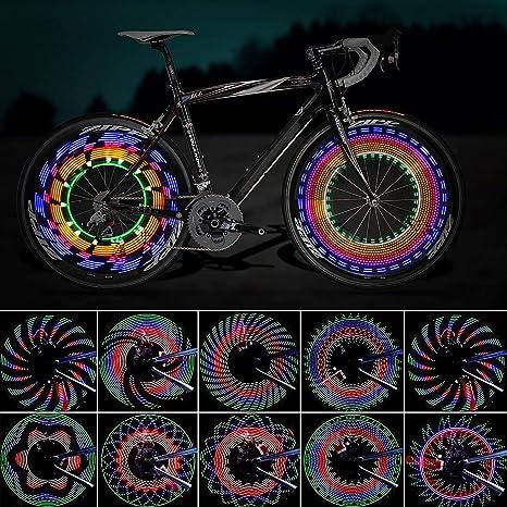 Luces para Rueda de Bicicletas, ZeWoo Led para radios de bicicleta ...