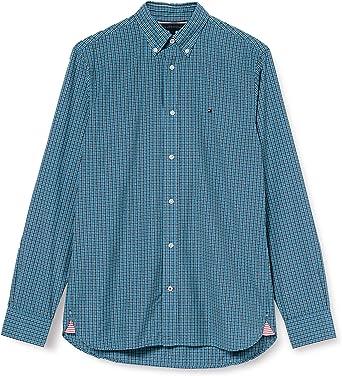 Tommy Hilfiger Micro Buffalo Check Shirt Camisa para Hombre: Amazon.es: Ropa y accesorios