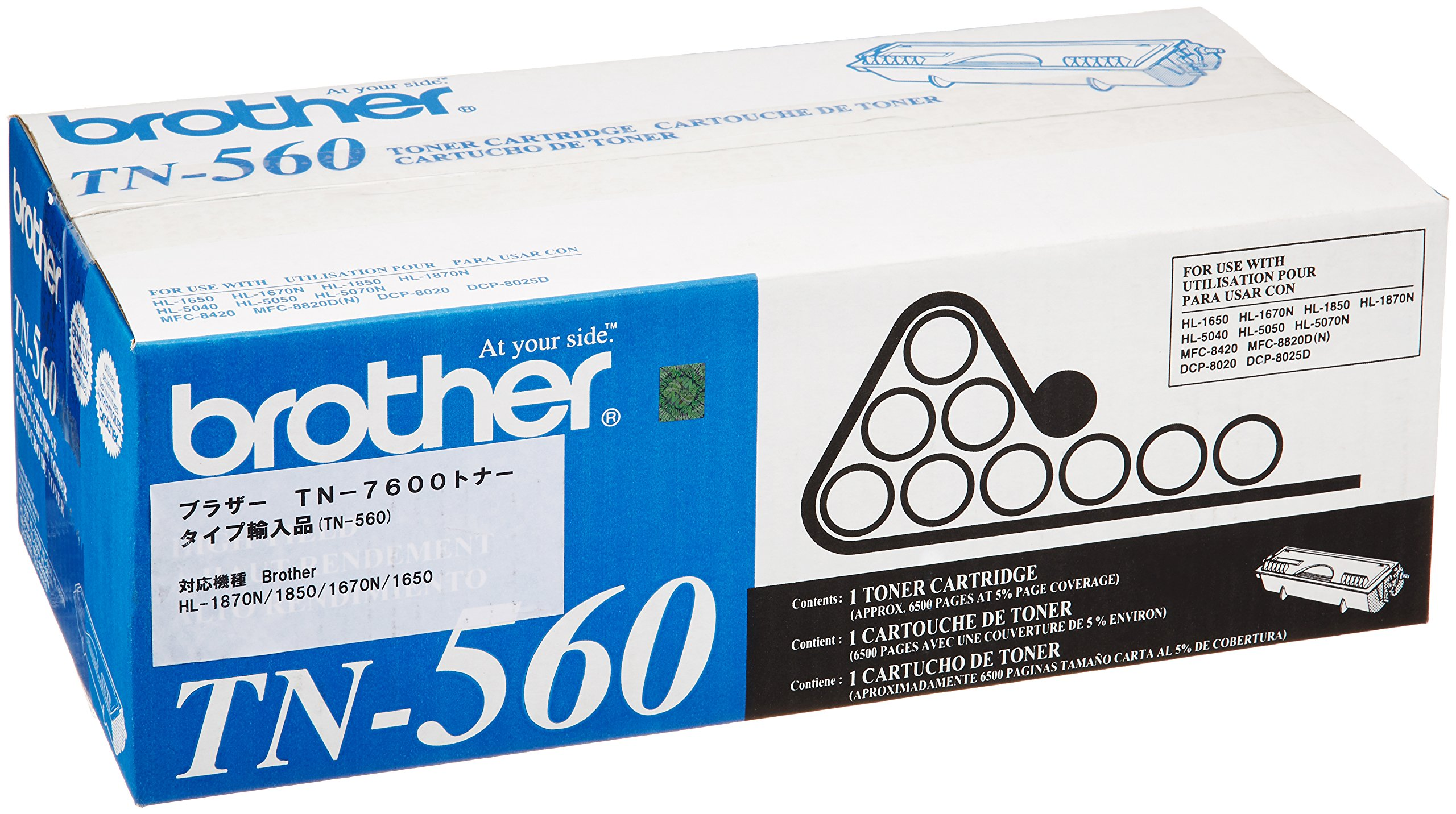Brother TN-560 High-Yield Toner Cartridge - Retail Packaging
