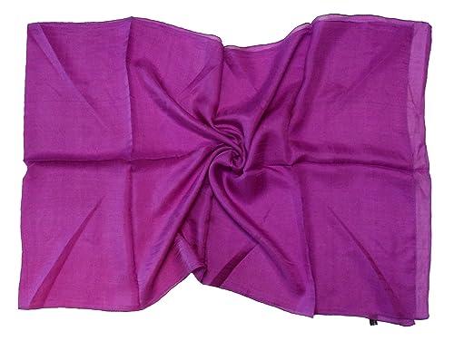 Bees Knees Fashion - Bufanda - Púrpura muy fina bufanda de seda larga