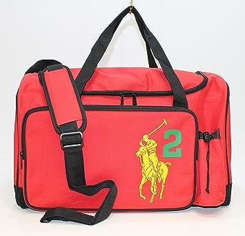 Ralph Lauren Pony Canvas Handbag Yellow Orange