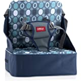 Nuby Easy Go Safety Lightweight High Chair Booster Seat, Great for Travel, Blue, 11.75x4.25x9.5 Inch (Pack of 1)