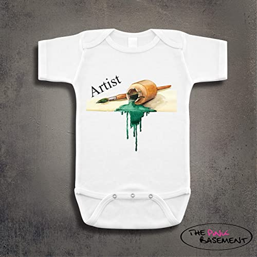 Baby Girl Boy Clothes Art Paintings Bodysuit Romper Jumpsuit Outfits Baby One Piece Long Sleeve