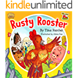 """FARM ANIMAL:""""RUSTY ROOSTER"""":Beginner readers, early learning readers (Children's picture book 4-8)Bedtime Story(Animal Story book)book for kids, Fantasy, ... Manners, friendship (BIG LITTLE FARM 1)"""