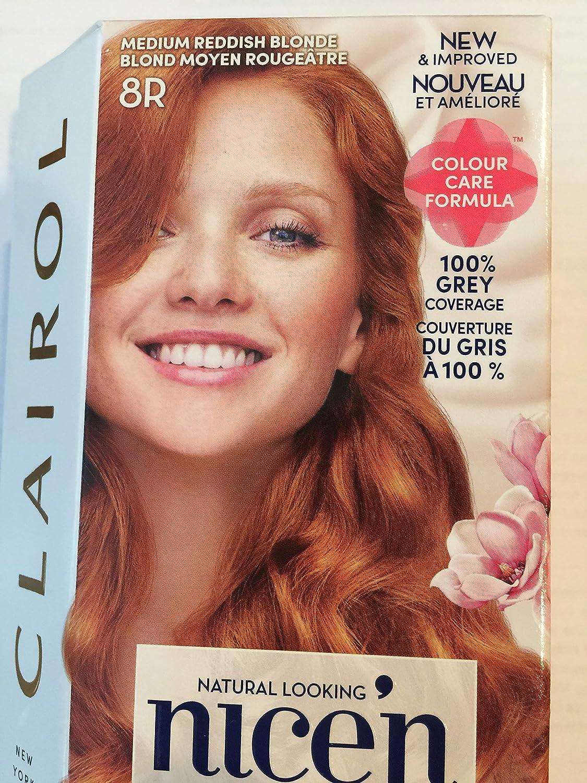 Clairol Nice N Easy Hair Color 108 Natural Reddish Blonde 1 Kit (Pack of 3) by Clairol