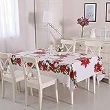 Pascua de Navidad Vinylla y muérdago limpiar mantel del PVC Quickfabrics