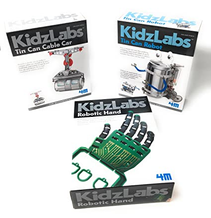 Amazon Com Kidzlabs Robot Toys Science Experiments For Kids Tin