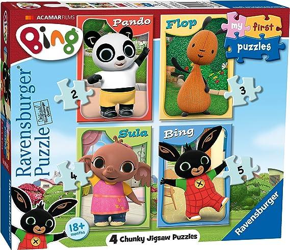 Ravensburger 6869 My First Puzzle Bing Bunny - Puzzles de sierra de puzzle (2, 3, 4 y 5 piezas) , color/modelo surtido: Amazon.es: Juguetes y juegos