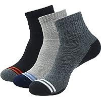Balenzia Men's Cushioned High Ankle Sports Socks- Black,L.Grey, D.Grey(Pack of 3)