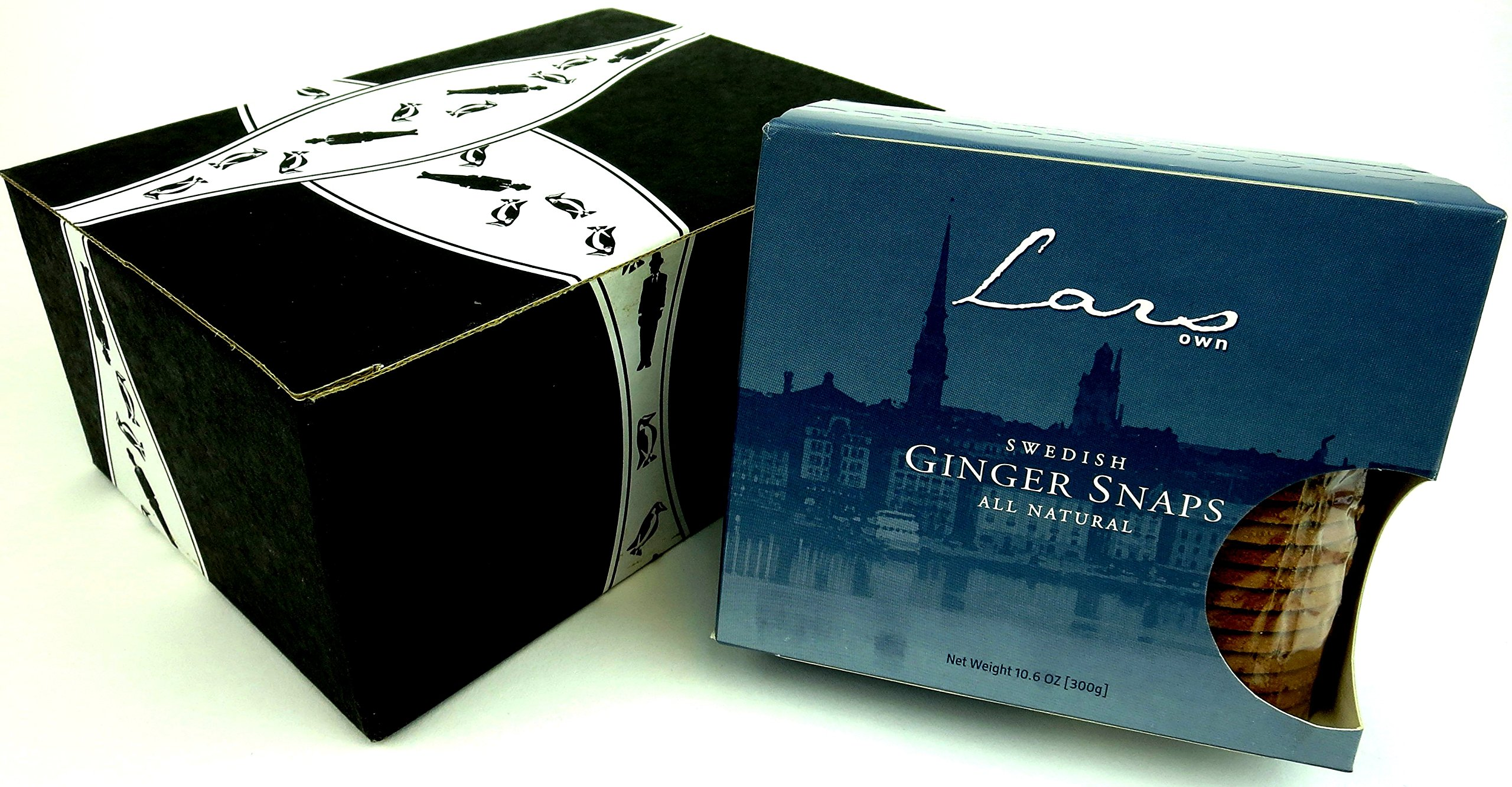 Lars' Own Swedish Ginger Snaps, 10.6 oz Package in a Gift Box