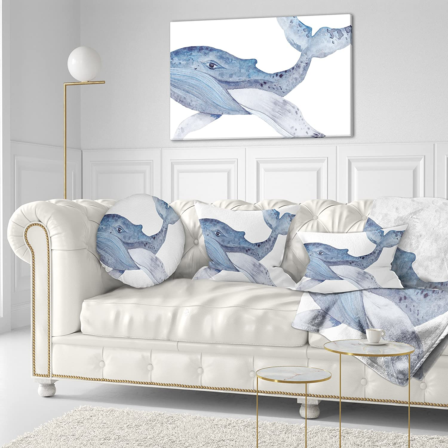 Super Decorative Pillows Designart Cu7671 20 20 C Large Watercolor Gmtry Best Dining Table And Chair Ideas Images Gmtryco