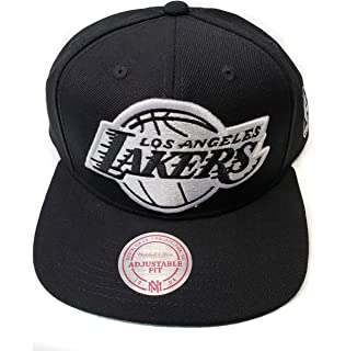a10c8d02 Mitchell & Ness Los Angeles Lakers Solid Wool Black & White Logo Vintage  Classic Adjustable Snapback