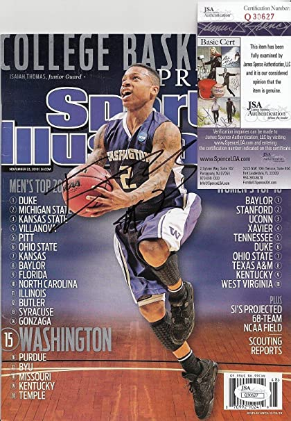 5fecfa4ee Isaiah Thomas signed Sports Illustrated Washington magazine Celtics Q30627  - JSA Certified - Autographed NBA Magazines