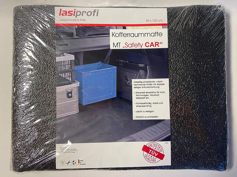 lasiprofi Kofferraummatte universal zuschneidbar Schmutzfangmatte MTSafety CAR 120 x 90 cm schwarz