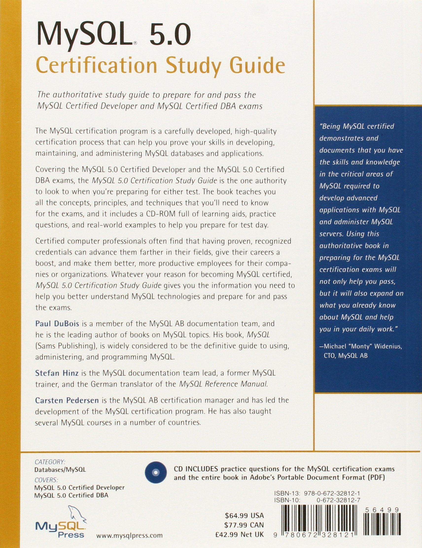 mysql 5 0 certification study guide mysql press