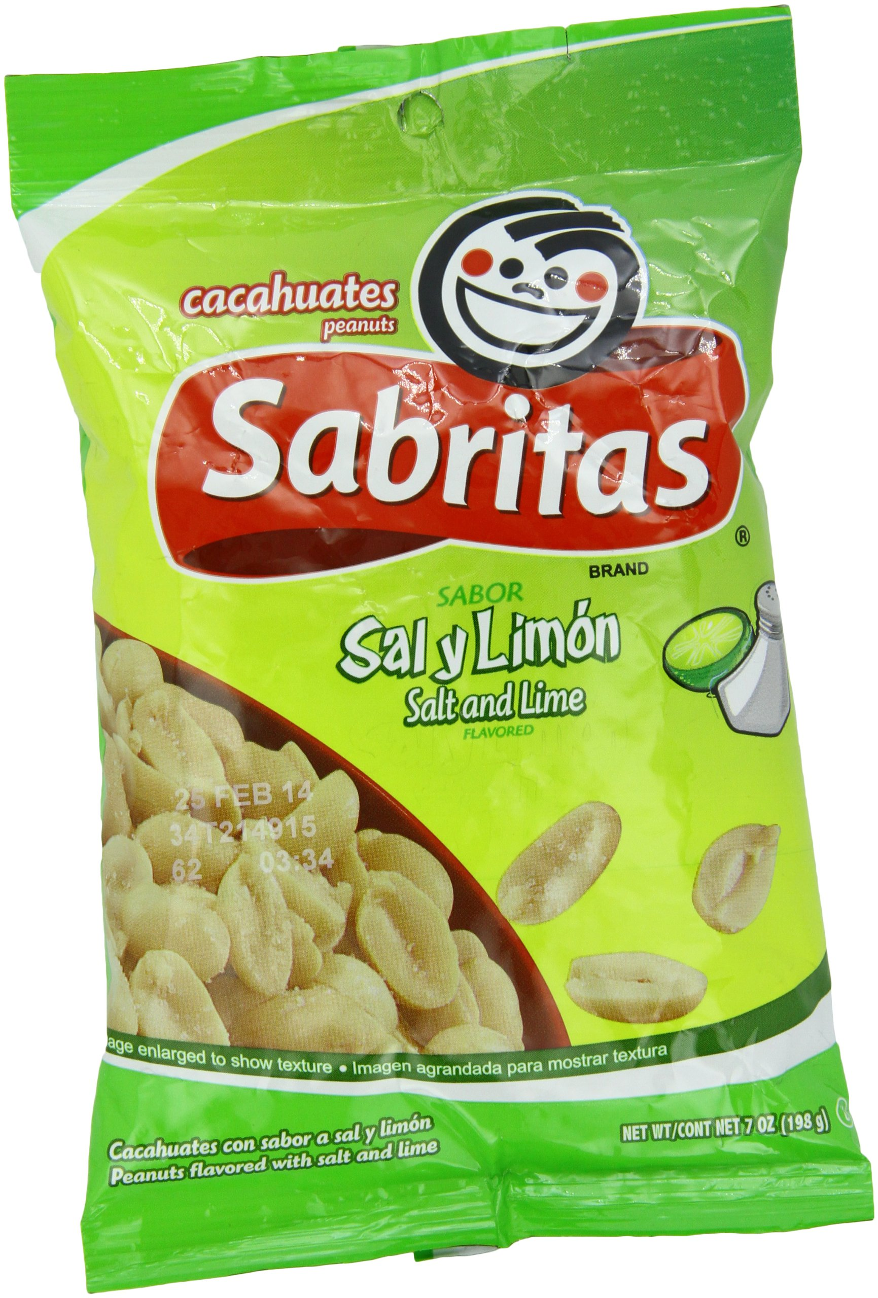 Amazoncom Sabritas Cacahuates Peanuts Chile Limon171g Kacang