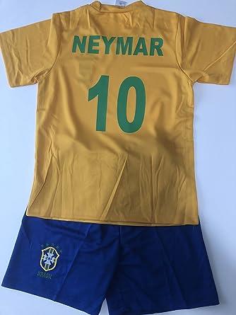 Camiseta de fútbol Brasil Neymar de 12 años: Amazon.es: Ropa y accesorios