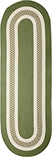 product image for Crescent Oval Area Rug, 2 by 10-Feet, Moss Green
