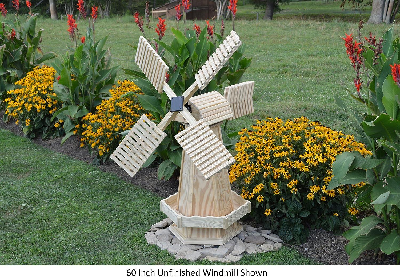 amazon com amish made working farm style windmill yard