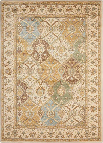 Nourison Modesto Beige Rectangle Area Rug, 7-Feet 10-Inches by 10-Feet 6-Inches 7 10 x 10 6