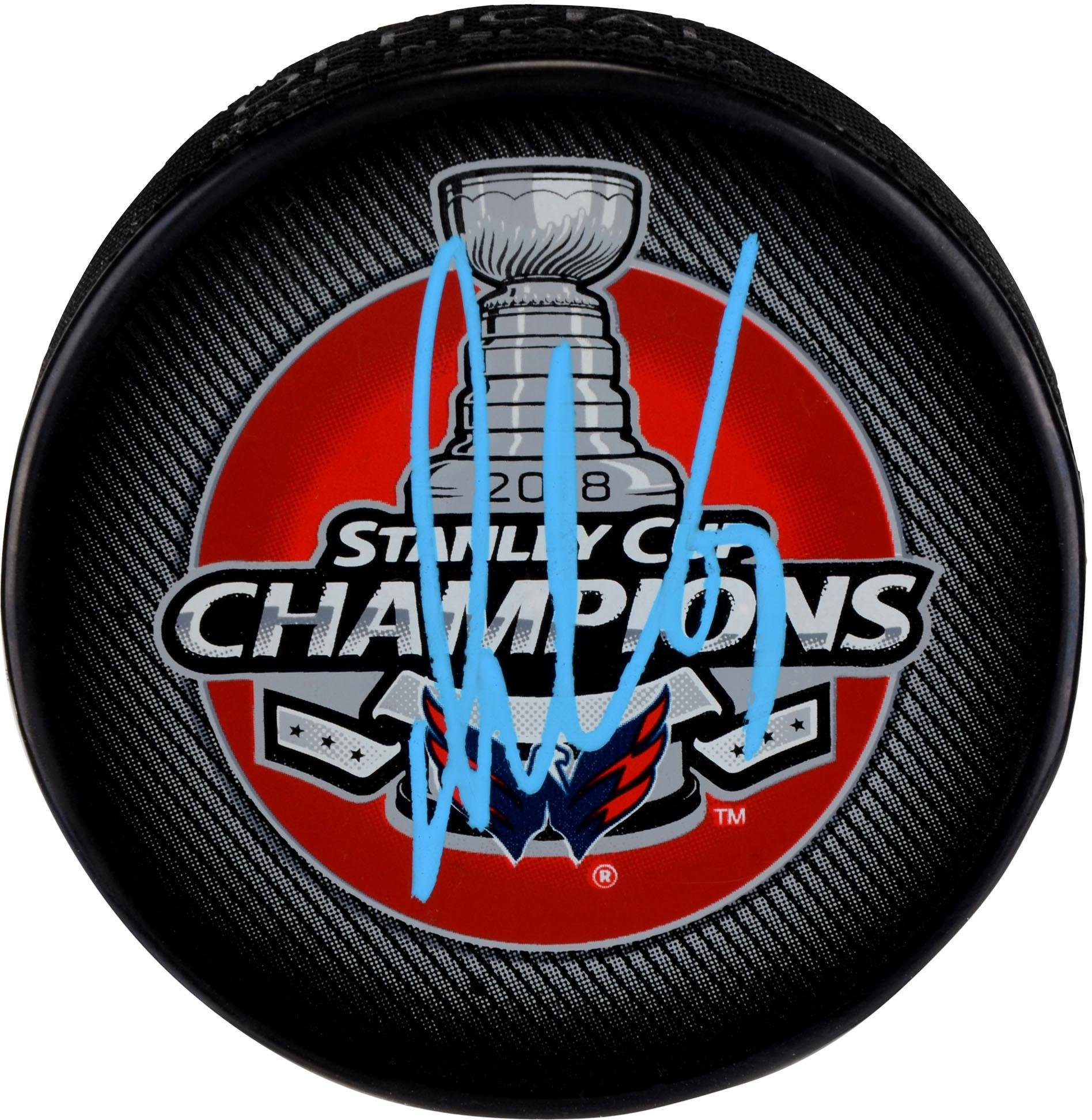 Alex Ovechkin Washington Capitals 2018 Stanley Cup Champions Autographed Stanley Cup Champions Logo Hockey Puck Fanatics Authentic Certified