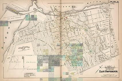 Amazon.com: East Providence (R.I.), City Atlas Map, Plate 21. Atlas ...